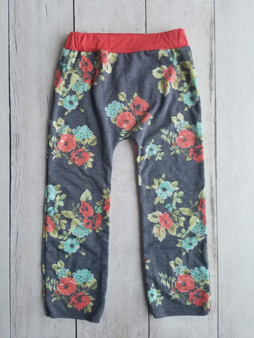 Red/Navy Floral Lounge Pants