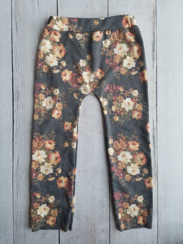 Charcoal/Peach Floral Lounge Pants
