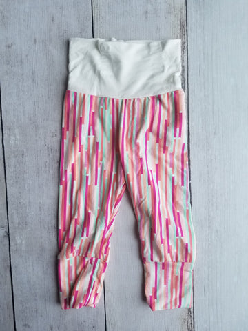 Pink/Seafoam Grow With Me Pants
