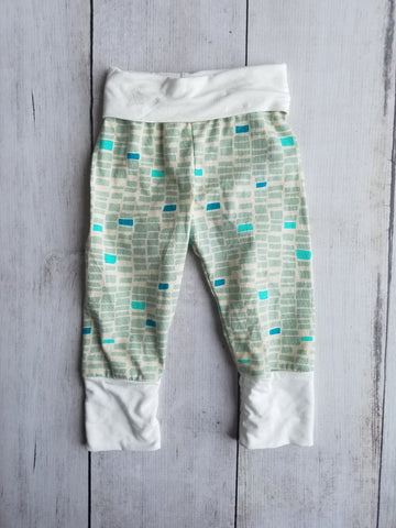 Teal Rectangle Grow With Me Pants