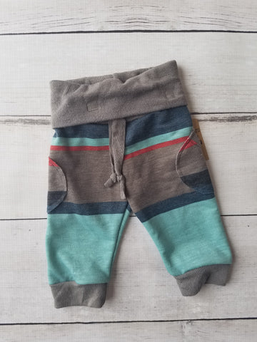 Rust Stripe Joggers