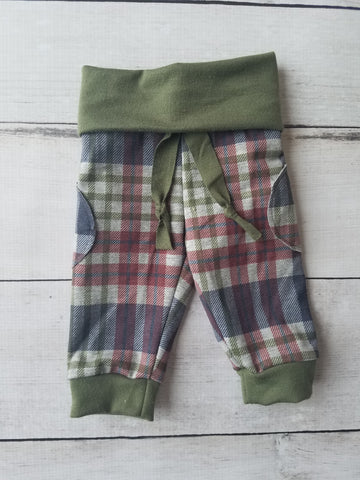 Green Plaid Joggers