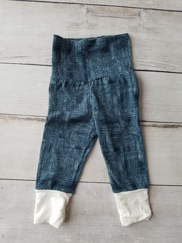 Faux Denim with White Cuff Grow With Me Pants