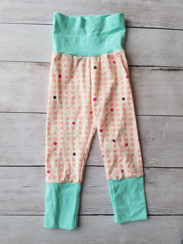 Pink/Seafoam Dot Grow With Me Pants