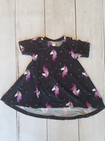 Black & Purple Unicorn Hi-Lo Dress