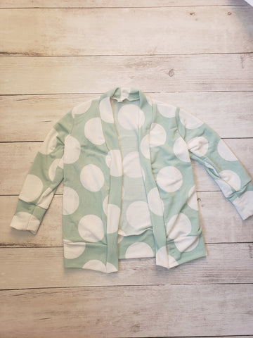 Mint Polka Dot Cardigan