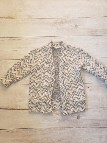 Blue Chevron Cardigan