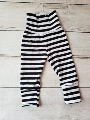 Black & White Stripe Grow With Me Pants