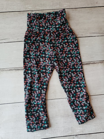 Teal/Black X's Grow With Me Pants
