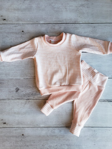 Peach Long Sleeve Tee and Leggings