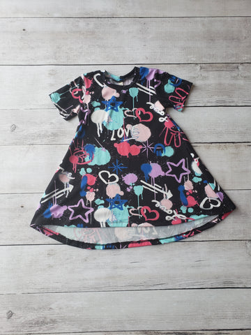Graffiti Hi-Lo Dress