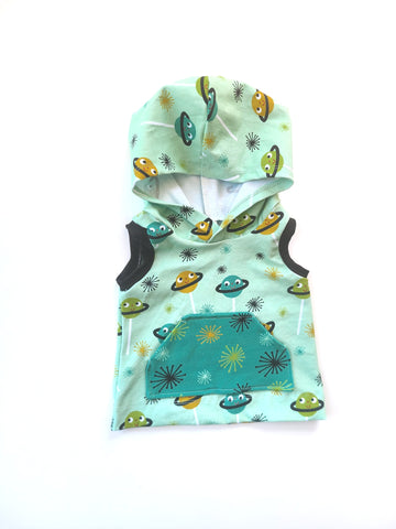 Hooded Tank Green Space Pop