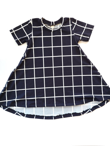 Basic Dress Navy Window Pane