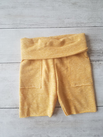 Heathered Mustard Pocket Shorts