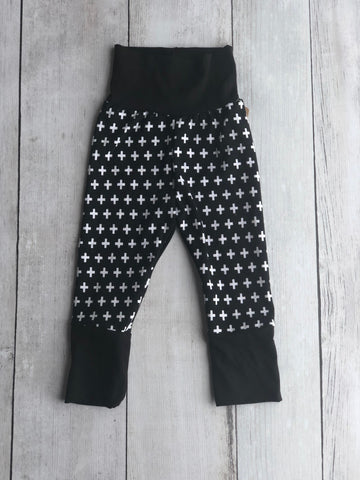 B & W Swiss Cross Grow With Me Pants