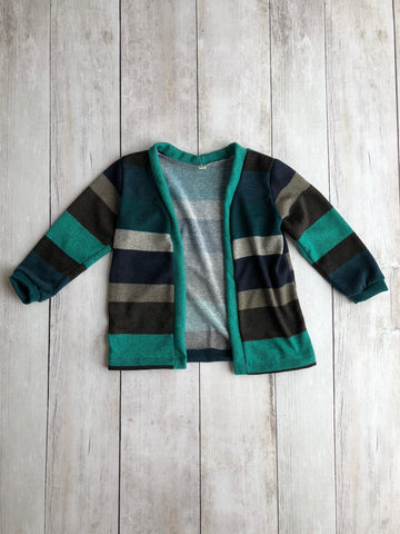 Blue Striped Cardigan