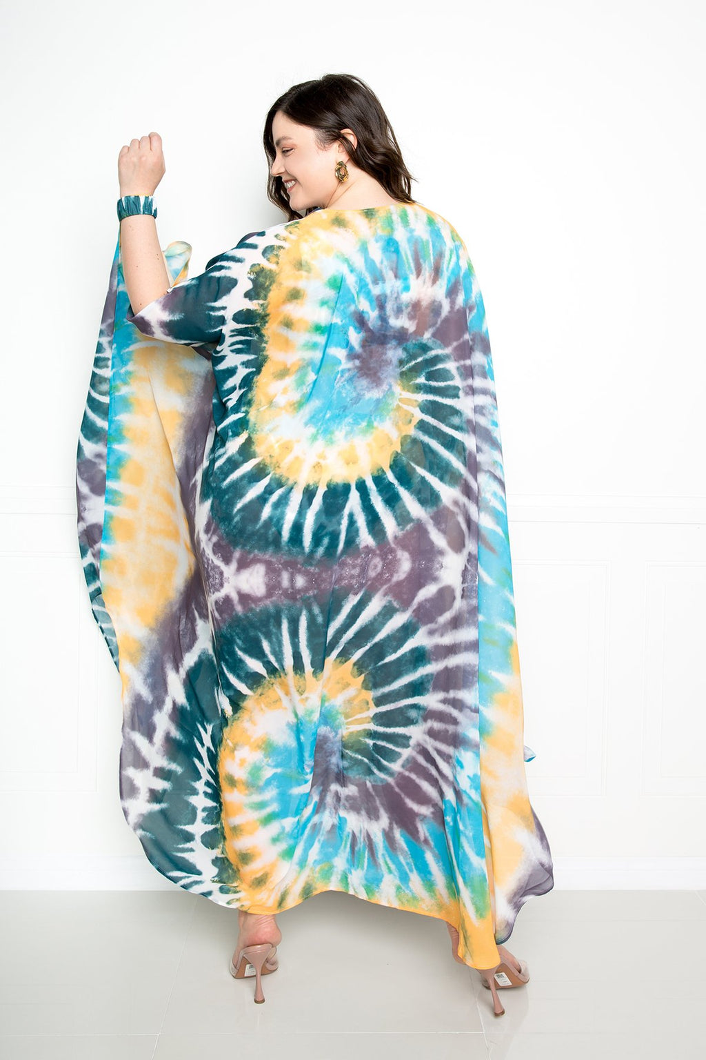 TIE-DYE COVER-UPS WITH WRIST BAND