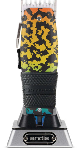 Rainbow Camo Custom Andis Cordless Master with Ceramic Blade and Clipper Grip Omnicord Inc.