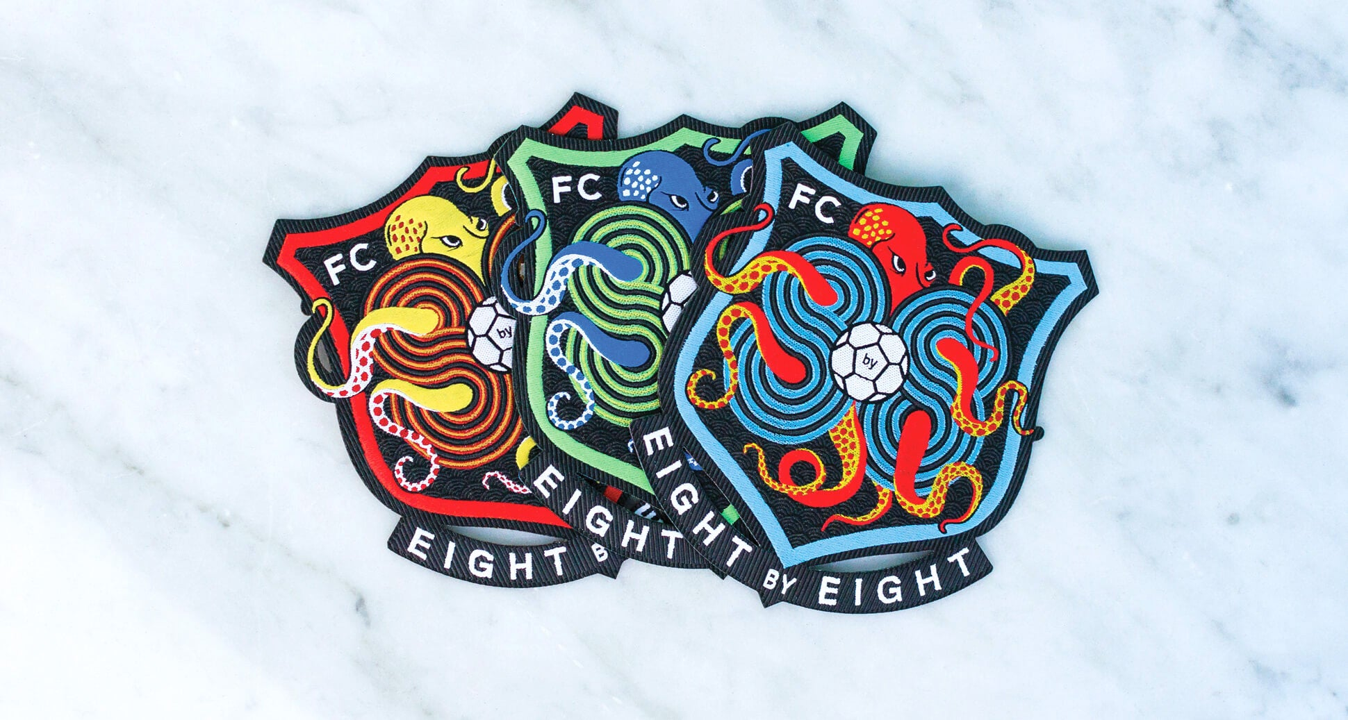 Eight by Eight FC Badge (green/blue)