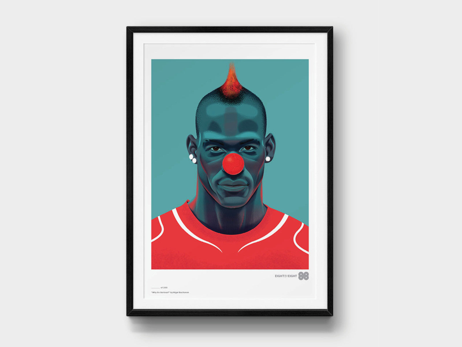 Limited-Edition Giclée Print: Balotelli
