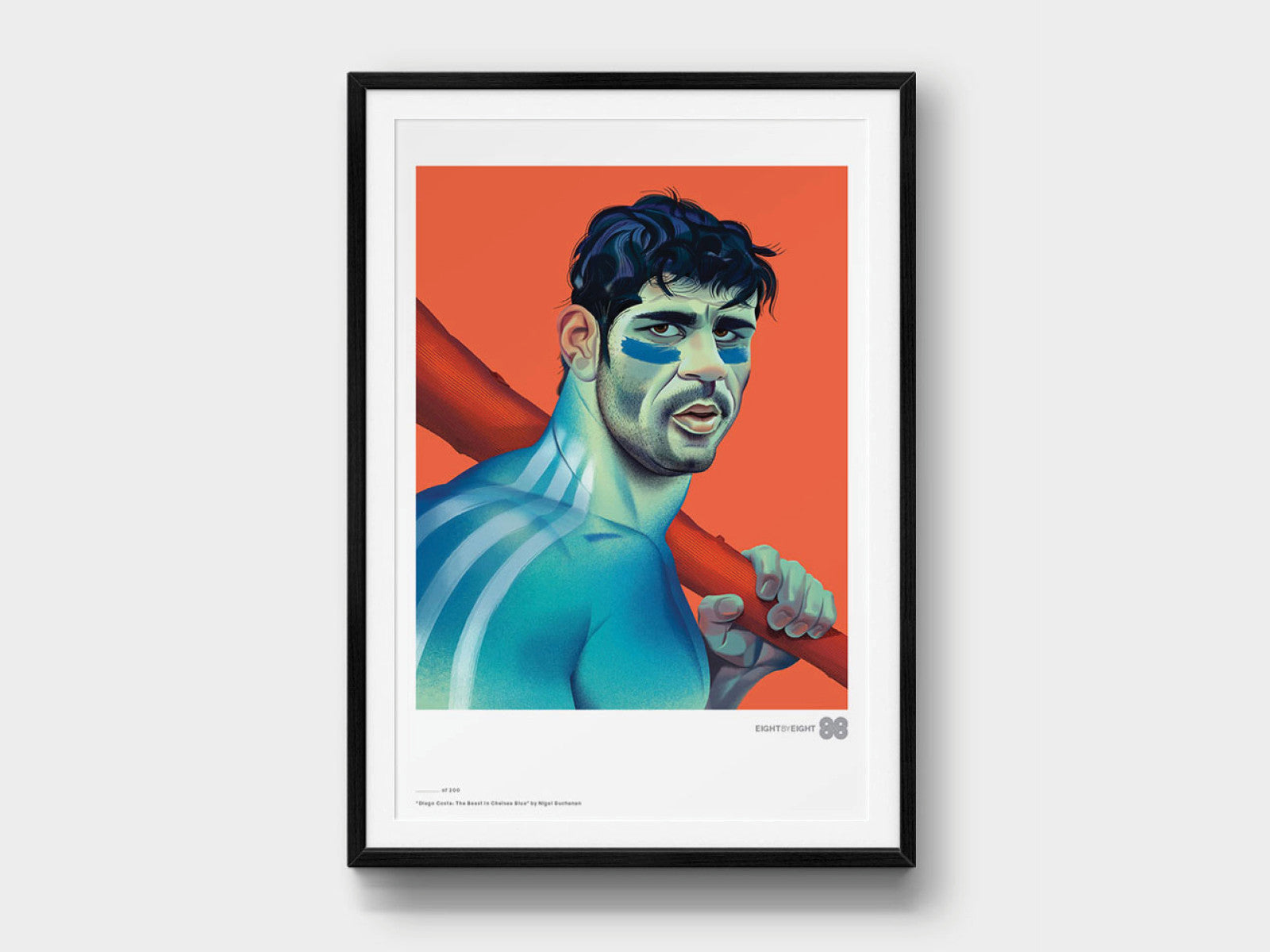Limited-Edition Giclée Print: Diego Costa