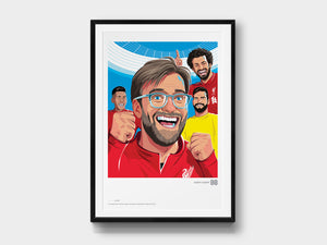 Limited-Edition Giclée Print: Liverpool FC, Premier League Champions 2019/20