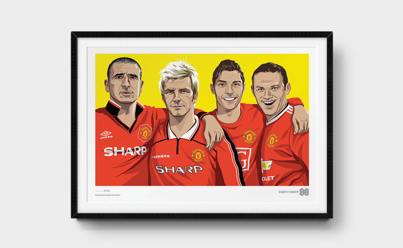 Limited-Edition Giclée Print: Manchester United Legends