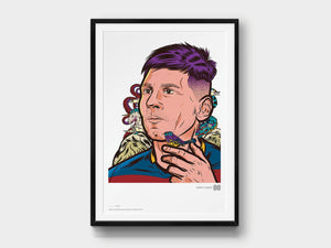Limited-Edition Giclée Print: Lionel Messi