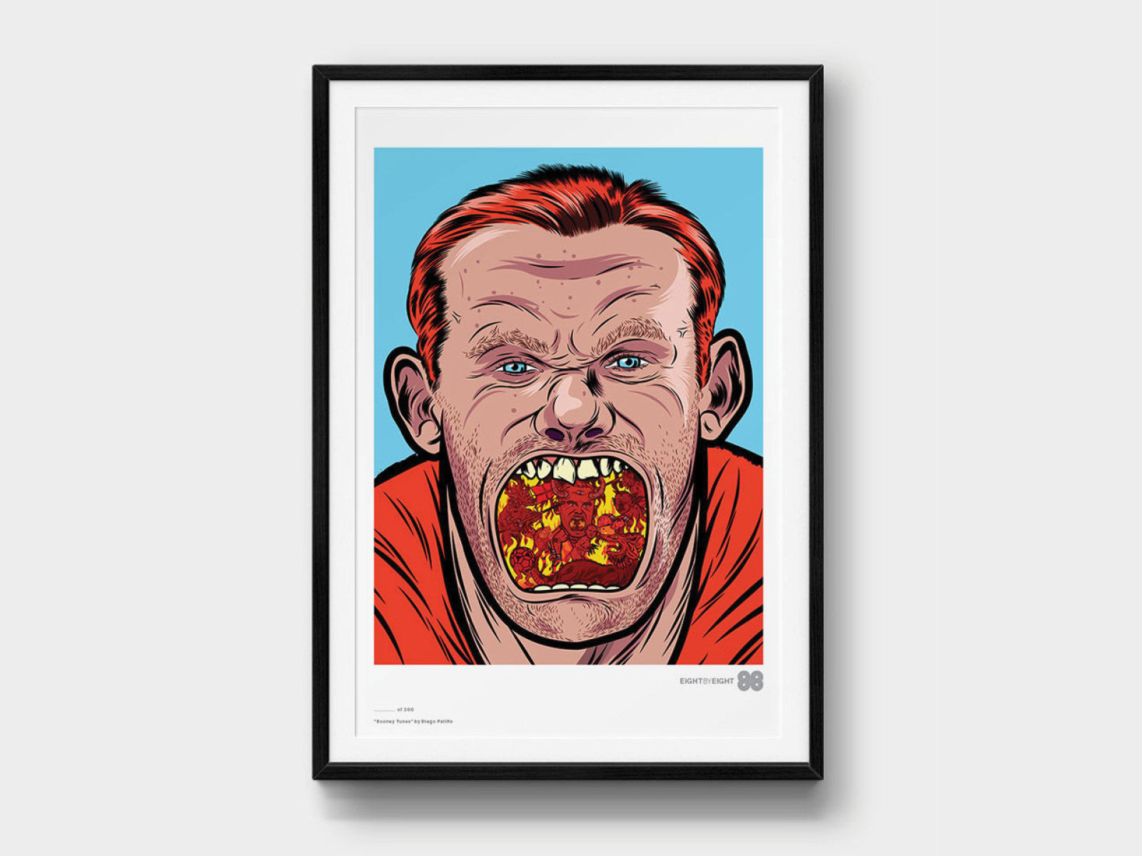 Limited-Edition Giclée Print: Wayne Rooney