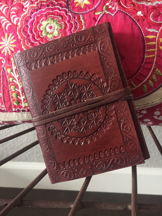 Small Hand Crafted Journal with Mandala Embossing