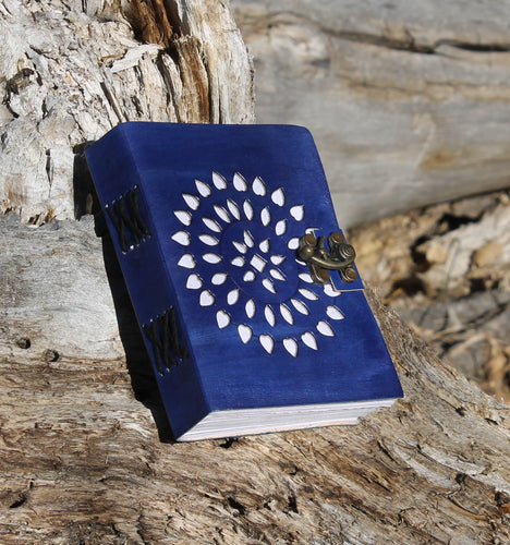 Beautiful Deep Blue Leather Journal