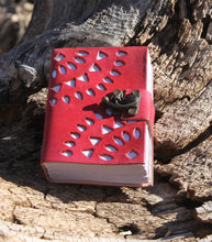 Ornamental Cut Red Leather Journal
