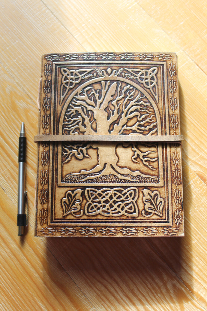 Handmade Vintage Tree of Life Journal in Two Sizes and Styles
