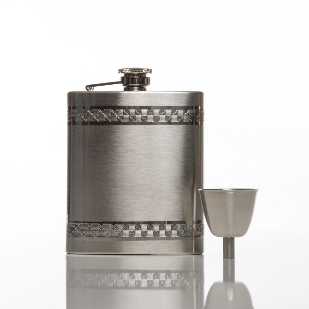 Silver Anchor Flask Set