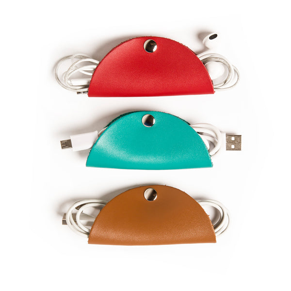 Cord Snaps 3-Pack (Red/Turquoise/Brown)