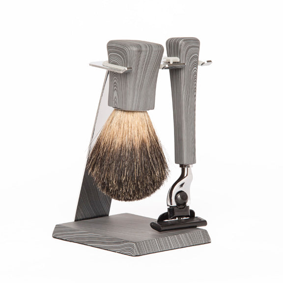 Jackson Shaving Set (Grey Wood)
