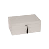 Stackable High-Gloss Jewelry Box - Silver
