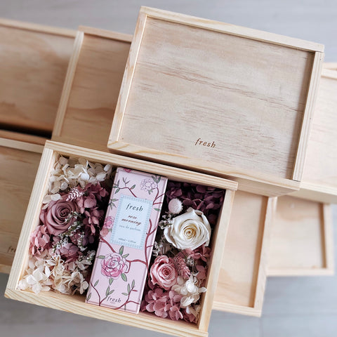 Fresh Perfume Mother's Day Preserved Flowers Corporate Gift Box by First Sight Singapore
