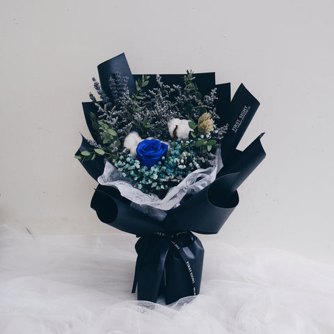 Everlasting Love Regular Charming in Blue Flower Bouquet - Father's Day