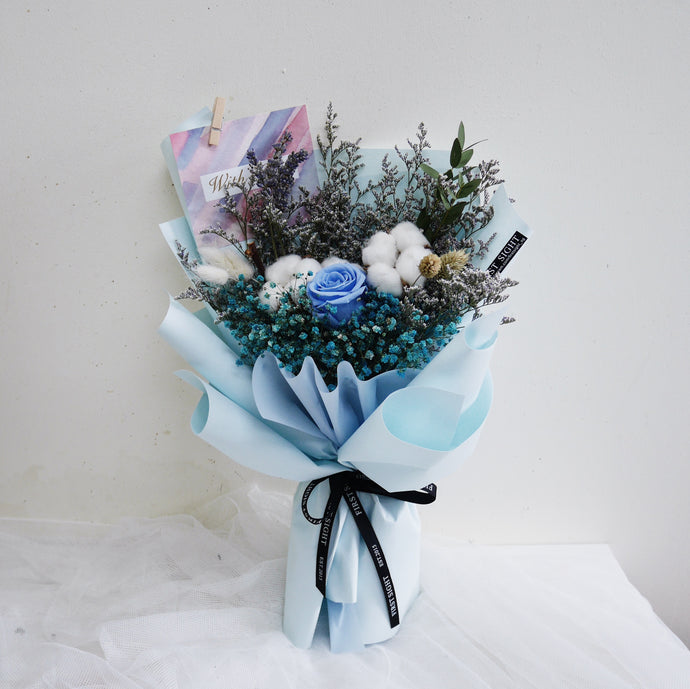 Everlasting Love (Regular - Blue) - First Sight Singapore: Best Florist in SG