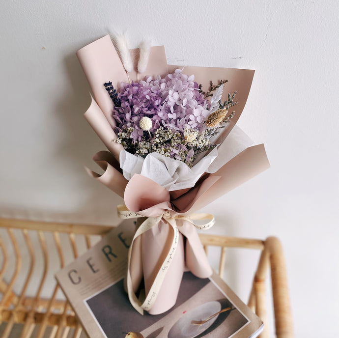 Everlasting Love (Preserved Hydrangea - Lilac) - First Sight Singapore