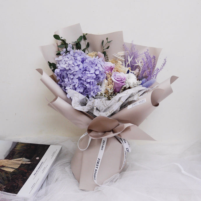 Everlasting Love (Deluxe Hydrangea - Lilac Dream) - First Sight Singapore
