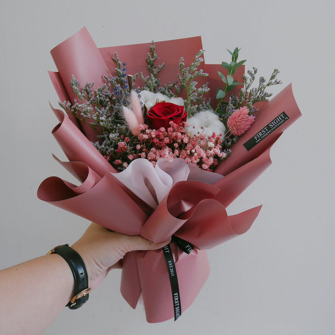 Everlasting Love (Regular - Red) - First Sight Singapore: Best Florist in SG