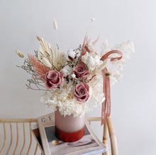 Pretty Preserved Flowers in Rose Gold Vase