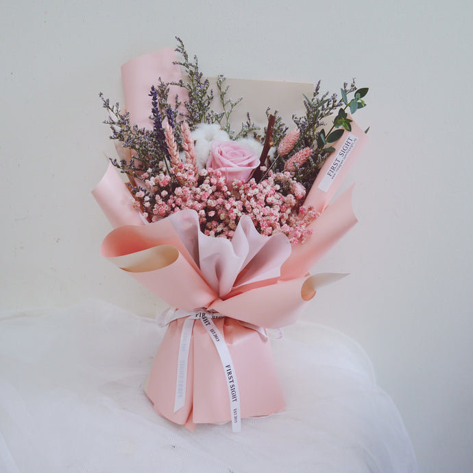 Everlasting Love (Regular - Pink) - First Sight Singapore: Best Florist in SG