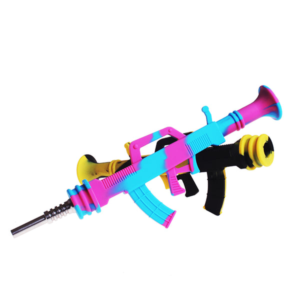 Machine Gun Silicone Dab Straw SA0270