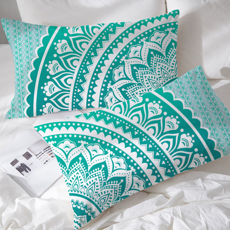 Mermaid Mandala Pillowcases - Bohemian Vibes Australia