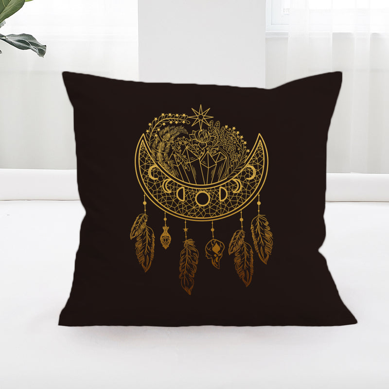 Dark Nights Square Cushion Cover - Bohemian Vibes Australia