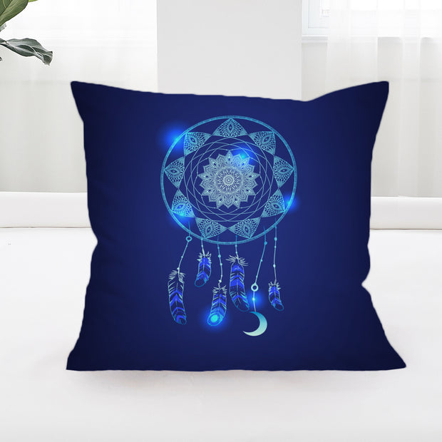 Blue Dreamcatcher Square Cushion Cover