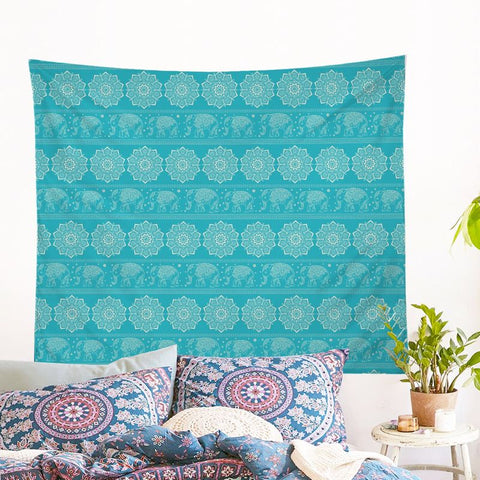 Turquoise Elephant Wall Tapestry (PRE-ORDER)